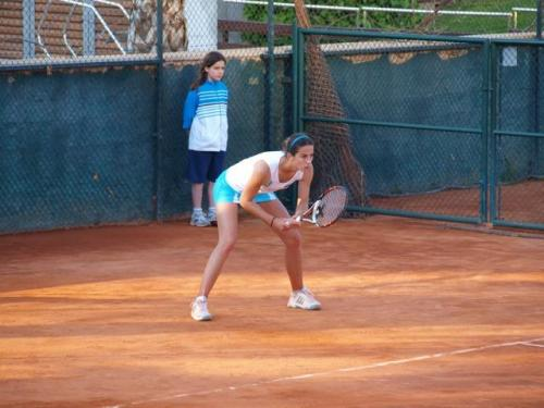 Return of serve at Barcelona WTA